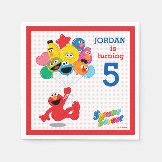 Guardanapo De Papel Sesame Street | Elmo e amigos - balões do