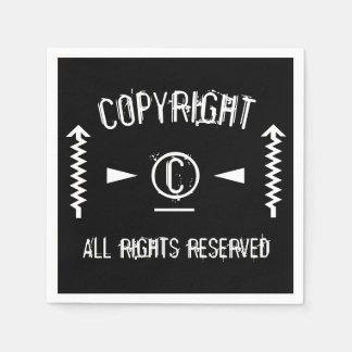 Guardanapo De Papel Símbolo de Copyright todos os direitos reservados
