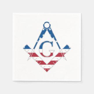 Guardanapo De Papel Símbolo dos EUA Freemasonic