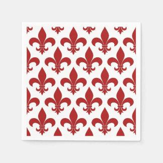 Guardanapo De Papel Símbolo vermelho do francês da flor de lis