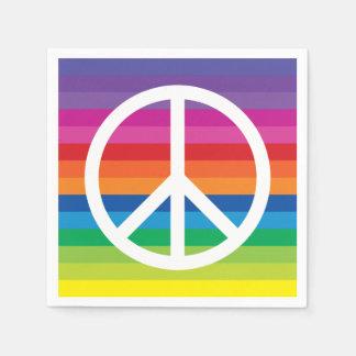 Guardanapo De Papel Sinal de paz do arco-íris