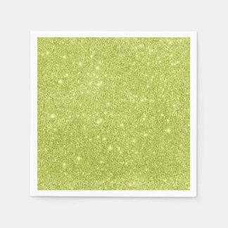 Guardanapo De Papel Sparkles do brilho do verde limão
