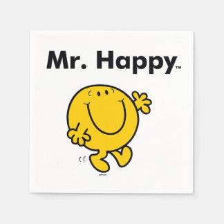 Guardanapo De Papel Sr. Feliz Ser Sempre Feliz do Sr. Homem |