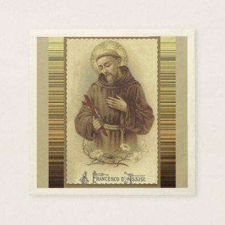 Guardanapo De Papel St Francis de Assisi com lírios do crucifixo