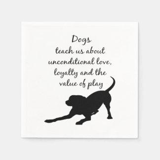 Guardanapo De Papel Sua arte inspirada das citações do cão de