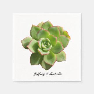 Guardanapo De Papel Succulent verde personalizado