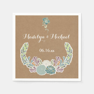 Guardanapo De Papel Succulents do papel de embalagem que Wedding os