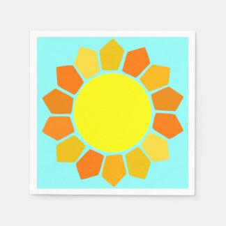 Guardanapo De Papel Sun amarelo simples