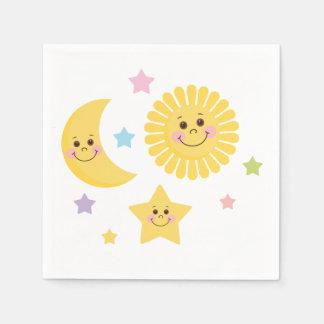 Guardanapo De Papel Sun, lua e estrelas