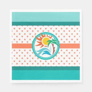 Guardanapo De Papel Sun & surf (pontos alaranjados)
