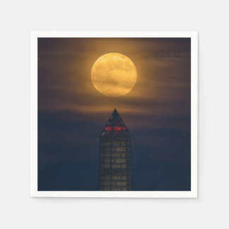 Guardanapo De Papel Supermoon sobre o monumento de Washington