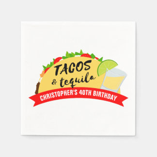 Guardanapo De Papel Tacos e festa de aniversário do Tequila
