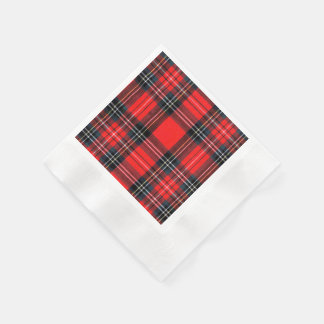 Guardanapo De Papel Tartan real do vintage