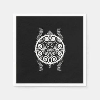Guardanapo De Papel Tatuagem da tartaruga do guerreiro de Tiki
