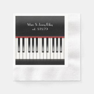 Guardanapo De Papel Teclado de piano para a festa de aniversário