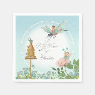Guardanapo De Papel Tema floral feericamente da abelha do partido de