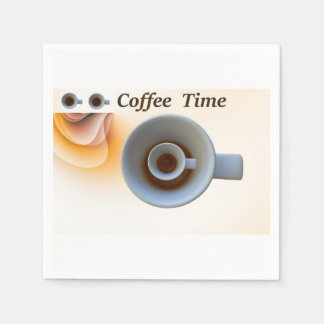 Guardanapo De Papel tempo do café