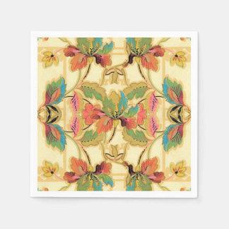 Guardanapo De Papel Teste padrão alaranjado do papel de parede floral