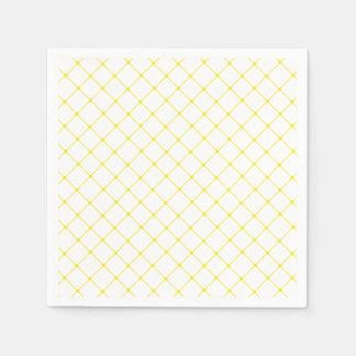 Guardanapo De Papel Teste padrão amarelo brilhante elegante da treliça