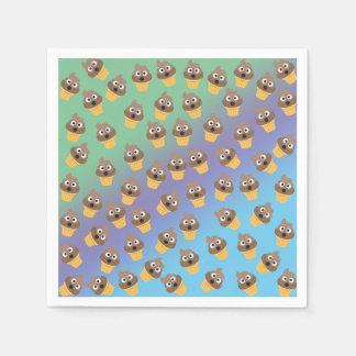 Guardanapo De Papel Teste padrão bonito do cone do sorvete de Emoji do