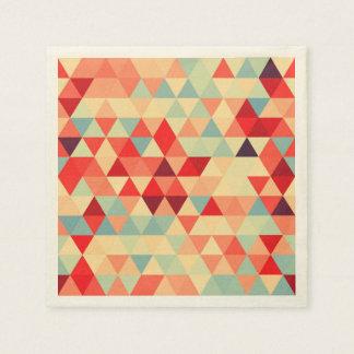Guardanapo De Papel Teste padrão bonito II do triângulo + suas ideias