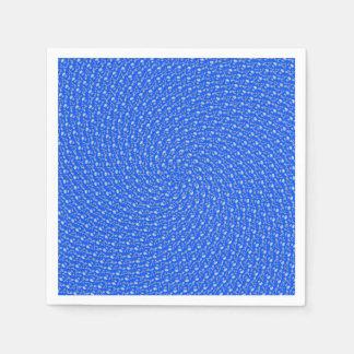 Guardanapo De Papel Teste padrão circular Receding azul do verão,