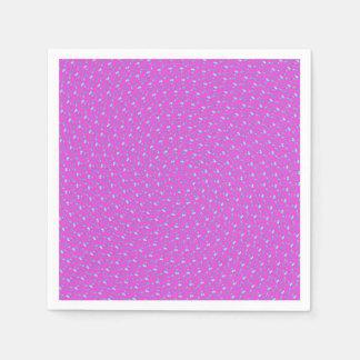 Guardanapo De Papel Teste padrão circular roxo cor-de-rosa magenta,