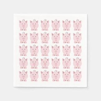 Guardanapo De Papel Teste padrão cor-de-rosa redondo do porco