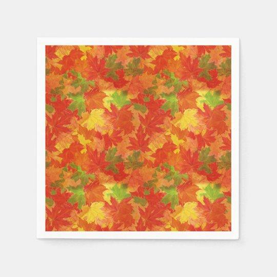 Guardanapo De Papel Teste padrão das folhas de outono