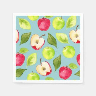Guardanapo De Papel Teste padrão das maçãs da aguarela