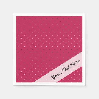 Guardanapo De Papel teste padrão de bolinhas cor-de-rosa do rosa do