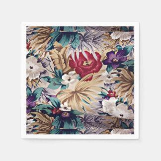 Guardanapo De Papel Teste padrão de flor tropical retro