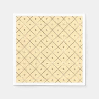 Guardanapo De Papel Teste padrão do amarelo do design gráfico
