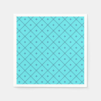 Guardanapo De Papel Teste padrão do azul do design gráfico