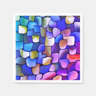 Guardanapo De Papel Teste padrão do rosa quente e do azul
