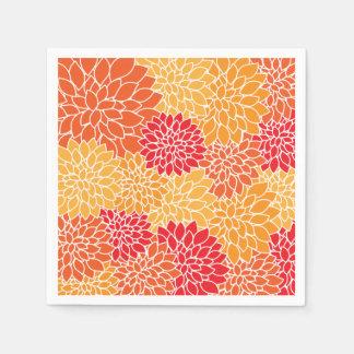 Guardanapo De Papel Teste padrão floral colorido