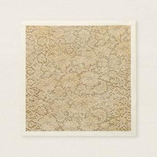 Guardanapo De Papel Teste padrão floral do laço velho do Crochet +