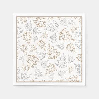 Guardanapo De Papel Teste padrão minimalista da árvore de Natal do