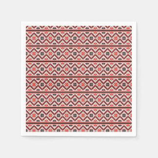 Guardanapo De Papel Teste padrão retro do design gráfico