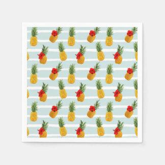 Guardanapo De Papel Teste padrão sem emenda do abacaxi havaiano do