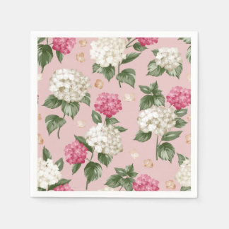 Guardanapo De Papel Teste padrão sem emenda floral do Hydrangea