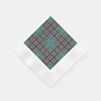 Guardanapo De Papel Teste padrão sem emenda retro geométrico abstrato