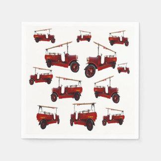 Guardanapo De Papel Teste padrão vermelho do carro de bombeiros do