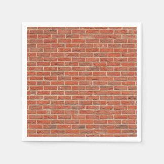Guardanapo De Papel Textura da parede de tijolo vermelho