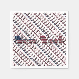 Guardanapo De Papel Tipografia da bandeira de país de New York EUA