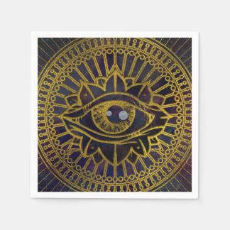 Guardanapo De Papel Todo o ouro místico de vista do olho no céu da