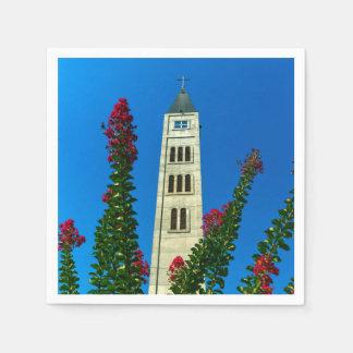 Guardanapo De Papel Torre de Luke do santo em Mostar, em Bósnia e em