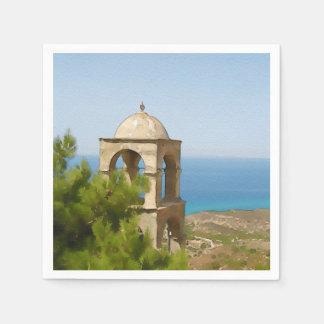 Guardanapo De Papel Torre de sino da aguarela