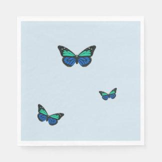 Guardanapo De Papel Três borboletas azuis