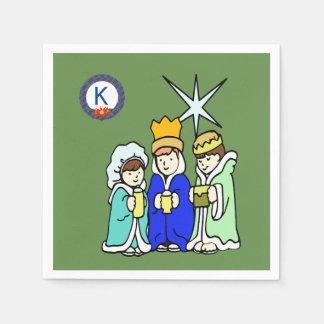 Guardanapo De Papel Três miúdos como homens sábios e um monograma